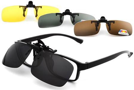 Clip-on zonnebril nu heel voordelig