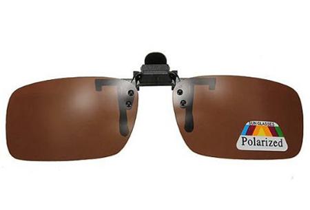 Clip-on zonnebril | Maak van je gewone bril een zonnebril!  bruin
