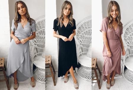 Dagaanbieding: Classy v-neck dress in de sale