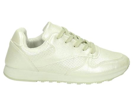 Shiny sneakers   Schitter als nooit tevoren met deze glamorous sneakers! Wit