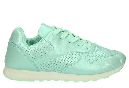 Shiny sneakers   Schitter als nooit tevoren met deze glamorous sneakers! Mintgroen