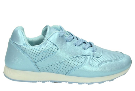 Shiny sneakers   Schitter als nooit tevoren met deze glamorous sneakers! Lichtblauw