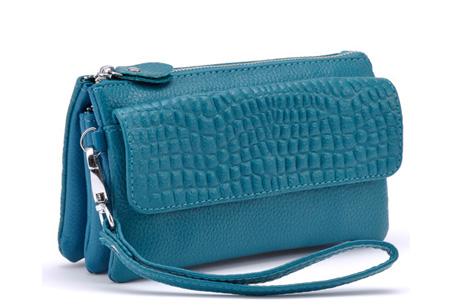 Multifunctionele portemonnee | Tas, clutch en portemonnee in één! Blauw