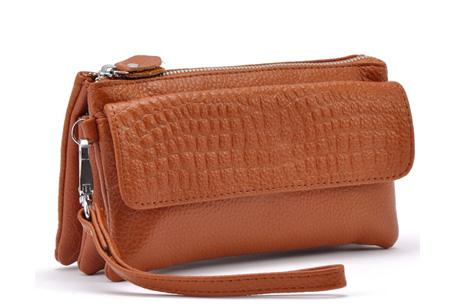 Multifunctionele portemonnee | Tas, clutch en portemonnee in één! Bruin
