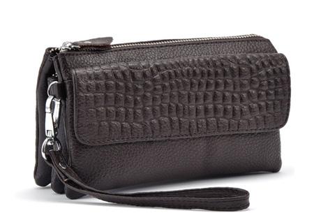 Multifunctionele portemonnee | Tas, clutch en portemonnee in één! Coffee