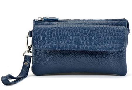 Multifunctionele portemonnee | Tas, clutch en portemonnee in één! Donkerblauw