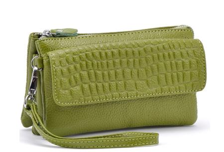 Multifunctionele portemonnee | Tas, clutch en portemonnee in één! Groen