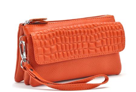 Multifunctionele portemonnee | Tas, clutch en portemonnee in één! Oranje