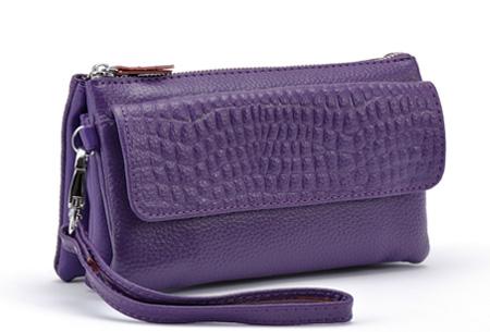 Multifunctionele portemonnee | Tas, clutch en portemonnee in één! Paars