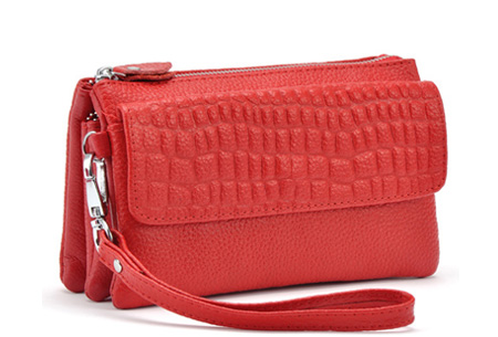 Multifunctionele portemonnee | Tas, clutch en portemonnee in één! Rood