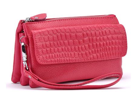 Multifunctionele portemonnee | Tas, clutch en portemonnee in één! Roze