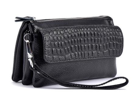 Multifunctionele portemonnee | Tas, clutch en portemonnee in één! Zwart