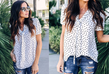 Dots blouse | Een echte must voor in je garderobe Wit