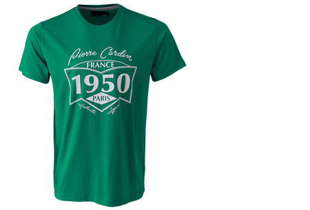 Pierre Cardin heren t-shirts met opdruk | Keuze uit 19 shirts van 100% katoen Groen