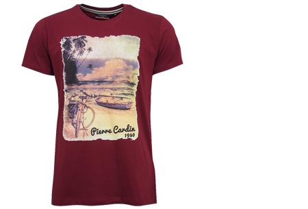 Pierre Cardin heren t-shirts met opdruk | Keuze uit 19 shirts van 100% katoen Berry
