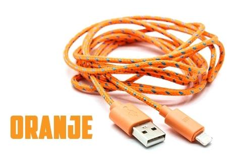 Sterke 2 meter USB oplaadkabel | Geschikt voor Micro USB