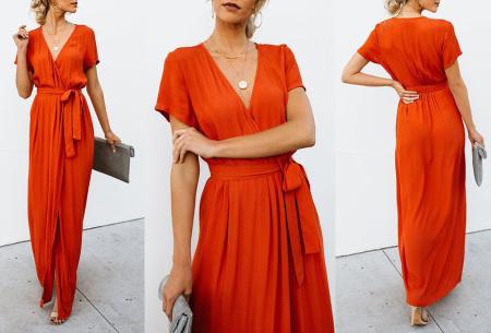 Favorite maxi jurk | Classy en comfortabel in één Oranje