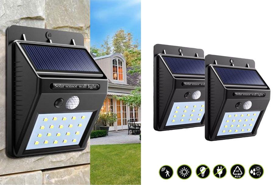60% korting - Solar LED buitenlampen