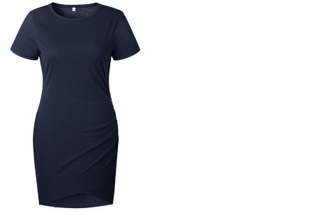 T-shirt dress | Stijlvolle basic voor elke vrouw Navy korte mouw