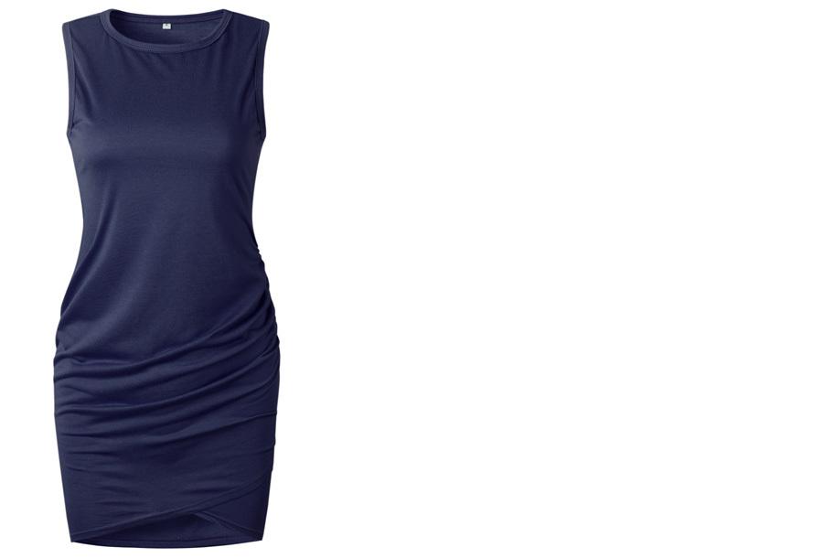 T-shirt dress - Maat XL - Mouwloos - Navy