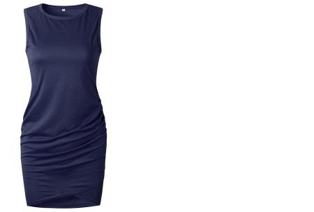 T-shirt dress | Stijlvolle basic voor elke vrouw Navy mouwloos