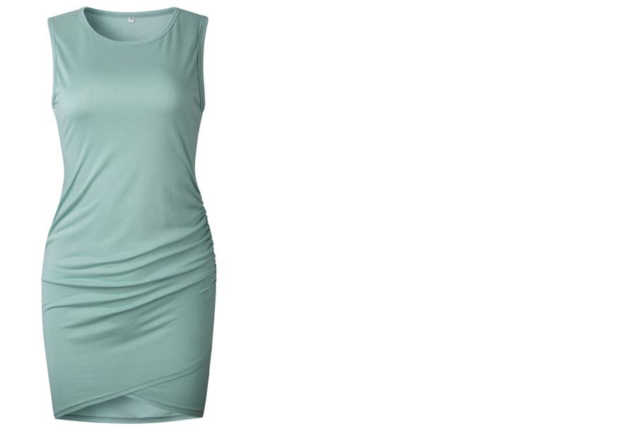 T-shirt dress - Maat XL - Mouwloos - Mintgroen
