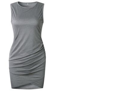 T-shirt dress | Stijlvolle basic voor elke vrouw Grijs mouwloos