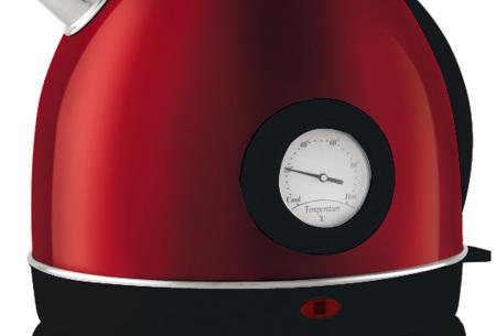 Moa retro waterkoker | Luxe waterkoker met vintage looks en thermometer