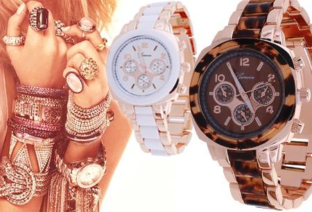 Horloge Bright - Ros�kleurig met Witte accenten