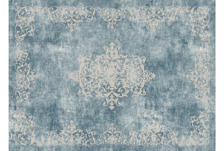 Loft Seven vloerkleden | Voor binnen en buiten gebruik  PUERTA PETROL BLUE