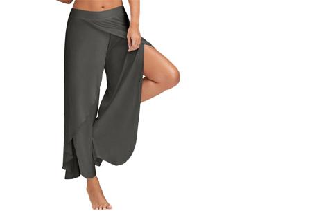 Comfy broek | Luchtige en zachte stretchstof voor ultiem draagcomfort donkergrijs