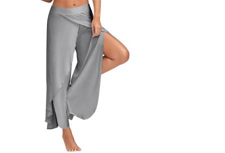 Comfy broek | Luchtige en zachte stretchstof voor ultiem draagcomfort lichtgrijs