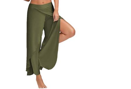 Comfy broek | Luchtige en zachte stretchstof voor ultiem draagcomfort legergroen