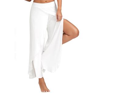 Comfy broek | Luchtige en zachte stretchstof voor ultiem draagcomfort wit