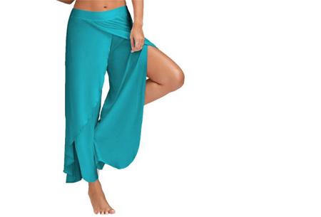 Comfy broek | Luchtige en zachte stretchstof voor ultiem draagcomfort blauw