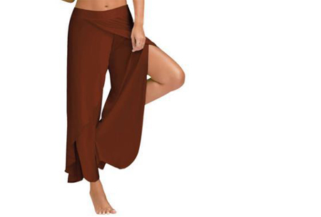 Comfy broek | Luchtige en zachte stretchstof voor ultiem draagcomfort coffee