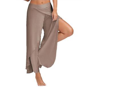Comfy broek | Luchtige en zachte stretchstof voor ultiem draagcomfort lichtbruin