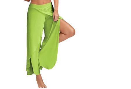 Comfy broek | Luchtige en zachte stretchstof voor ultiem draagcomfort lichtgroen