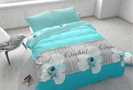 Dekbedovertrekken outlet | Extreem voordelig slapen onder luxe!  Orchidee turquoise