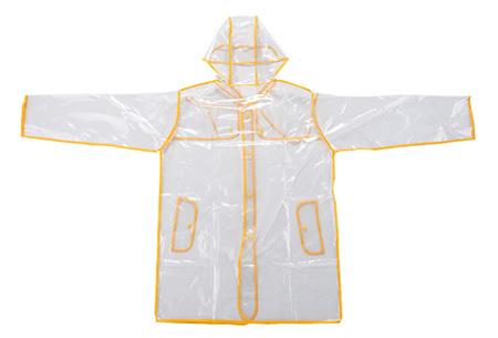 Transparante regenjas   Stijlvol en droog de regenachtige dagen door geel