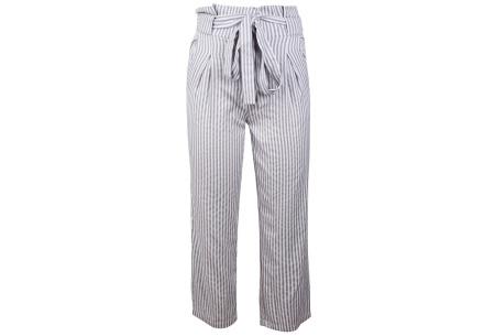 Striped highwaist pants | Stijlvolle & comfortabele dames broek grijs