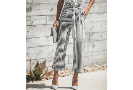 Striped highwaist pants | Stijlvolle & comfortabele dames broek