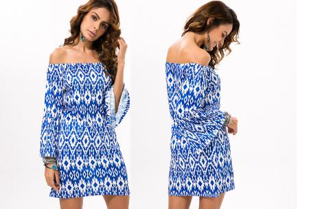 Off shoulder jurk met bohemian print | Leuke jurkjes verkrijgbaar in 12 prints #5