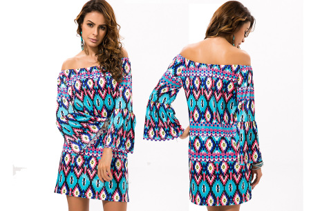 Off shoulder jurk met bohemian print | Leuke jurkjes verkrijgbaar in 12 prints #6