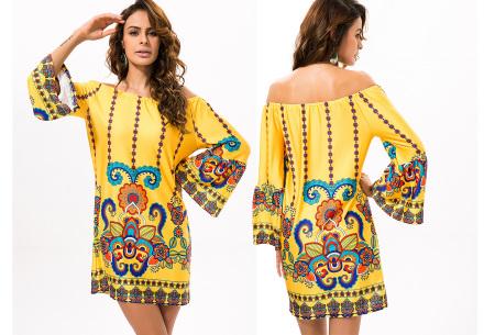 Off shoulder jurk met bohemian print | Leuke jurkjes verkrijgbaar in 12 prints #7