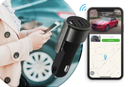 4-in-1 Smart car charger | Multifunctionele oplader met ingebouwde GPS tracker
