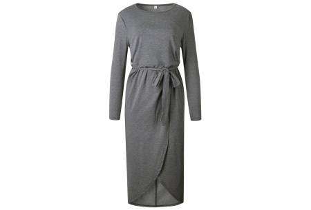 Glorious maxi jurk | Comfortabele musthave Donkergrijs
