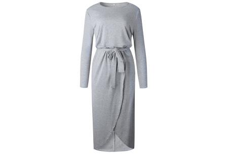 Glorious maxi jurk | Comfortabele musthave Lichtgrijs