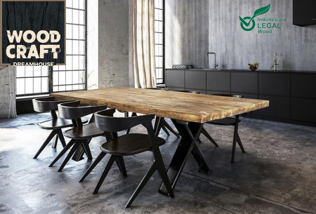 Woodcraft tafel | Van Indonesisch recycled hout