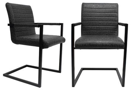 Kubis stoelen | Betaalbaar design voor een moderne en industriële look zwart